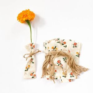 Vintage Fabric Flower Holder Party Favor Bags
